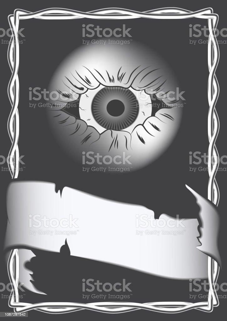 Vetores De Monocromatico De Desenho Em Estilo Gotico Capa Cartaz