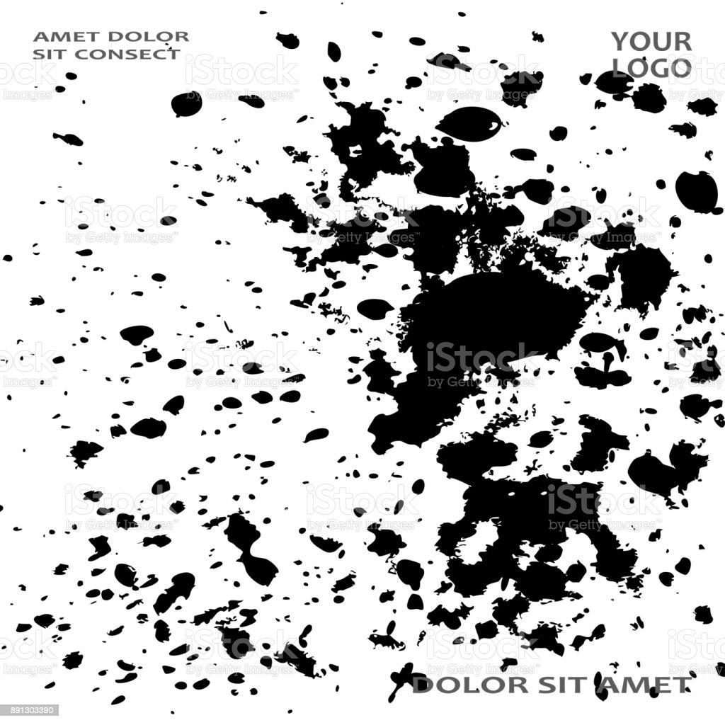 Monochrome Explosion Farbe Splatter Künstlerische Cover Rahmendesign ...