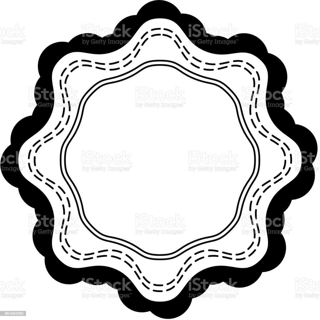 Monochrome Fashionable ornament medal - Royalty-free Abstract stock vector