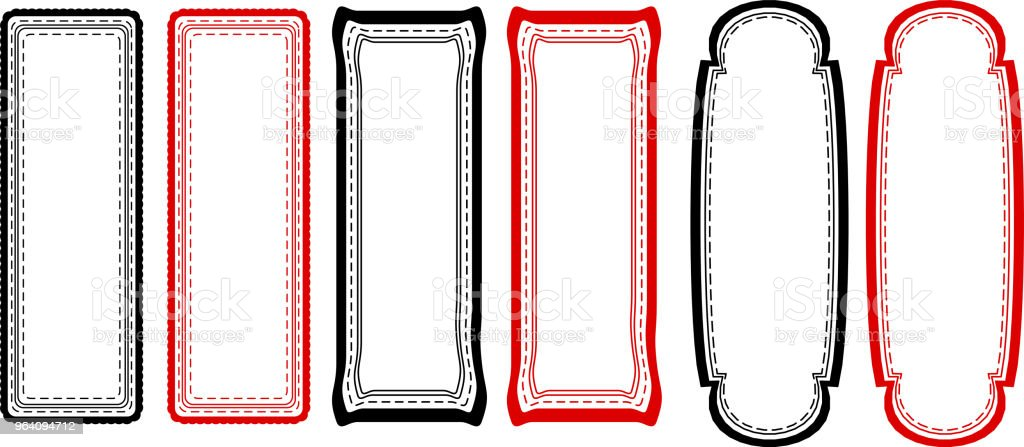 Monochrome Fashionable tag set - Royalty-free Abstract stock vector