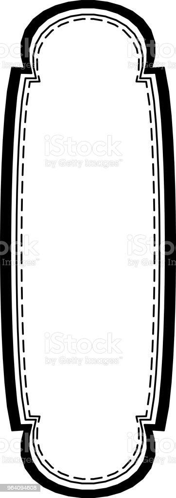 モノクロのおしゃれなタグ - アイデンティティーのロイヤリティフリーベクトルアート