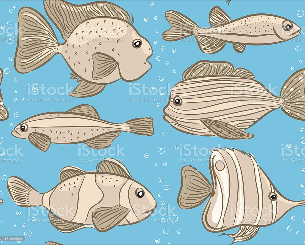 monochrome fish royalty-free stock vector art