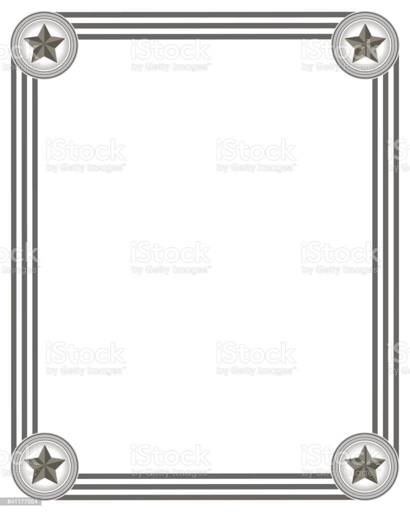 Monochrome Rahmen Mit Amerikanischen Symbole Stock Vektor Art und ...