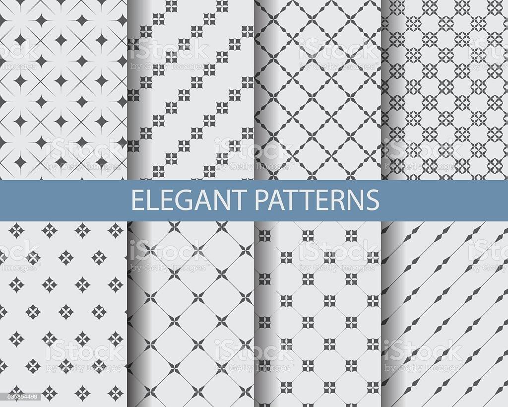 monochrome geometric pattern vector art illustration