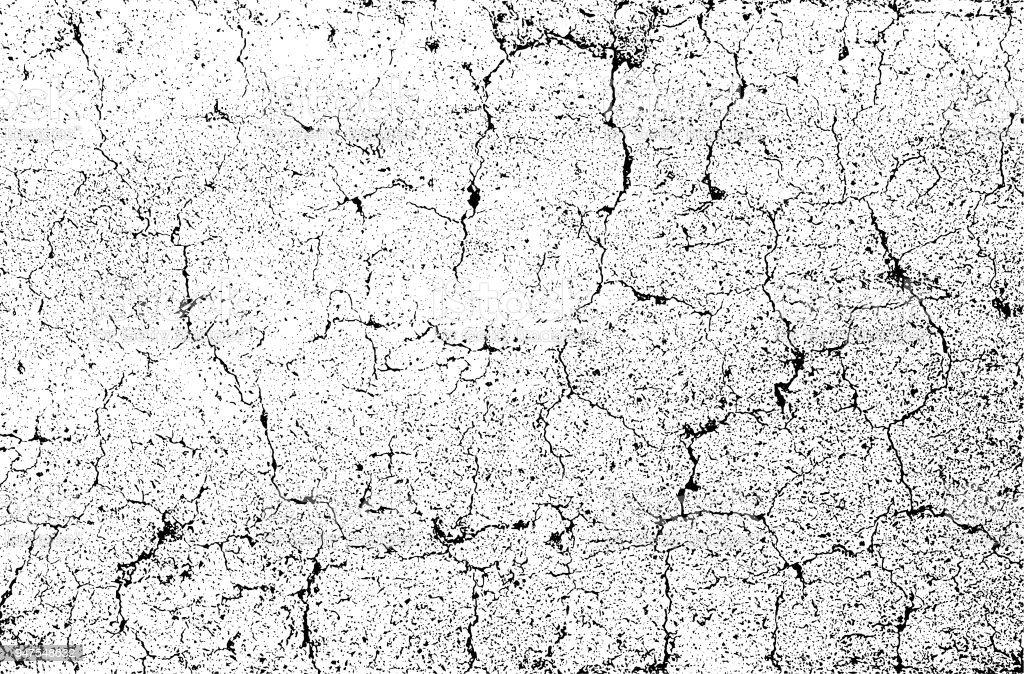 Fondo de textura grunge monocromo. Grietas en la pared de piedra dañada. Telón de fondo del rectángulo - ilustración de arte vectorial