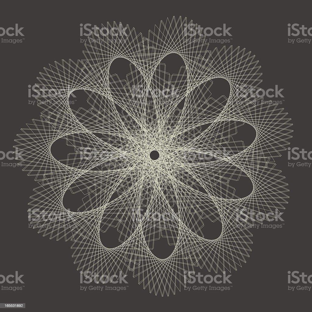 Monochrome Guilloché, Vector Illustration vector art illustration