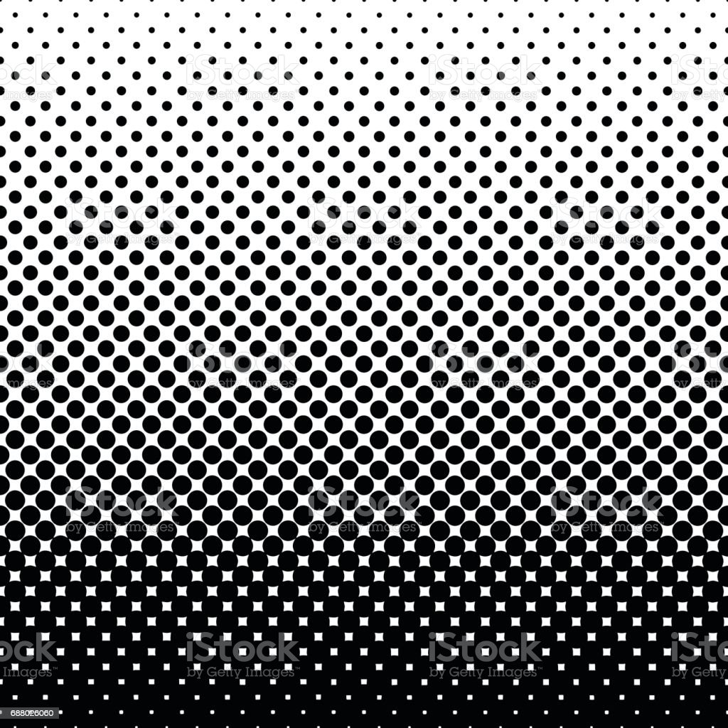 Monochrome halftone abstract background vector art illustration