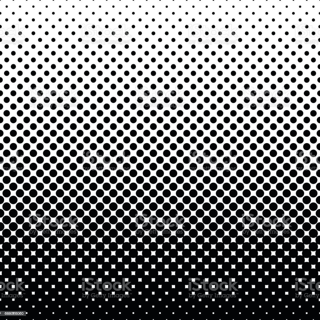 Monochrome halftone abstract background - ilustração de arte em vetor
