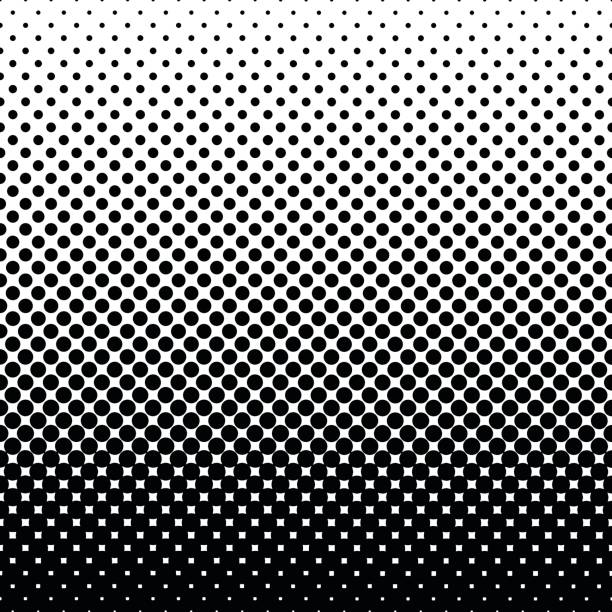 monochrome halftone abstract background - spotted stock illustrations, clip art, cartoons, & icons
