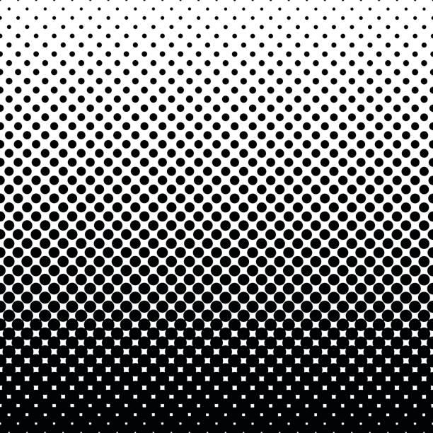 monochrome halftone abstract background - half tone stock illustrations, clip art, cartoons, & icons