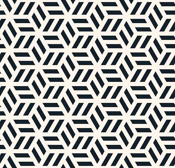 monochrome hexagonal pattern - black and white pattern stock illustrations, clip art, cartoons, & icons