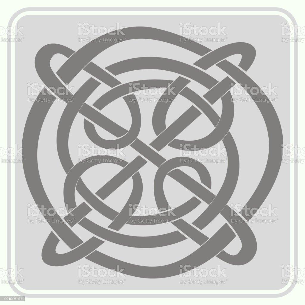 Ilustración de Icono De Monocromo Con Adornos étnicos Y Arte Celta y ...