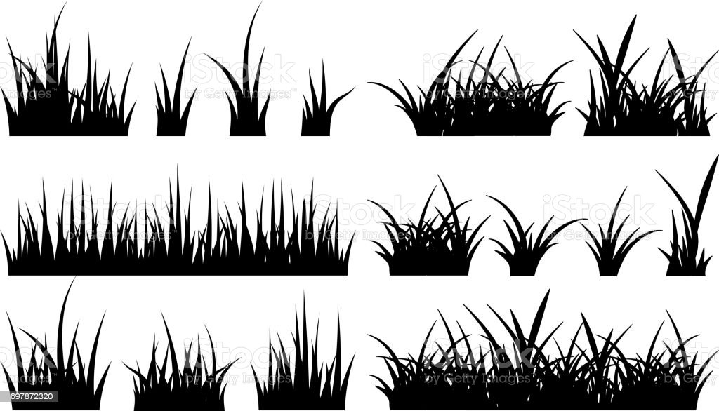monochrome illustration of grass vector silhouettes stock illustration download image now istock monochrome illustration of grass vector silhouettes stock illustration download image now istock