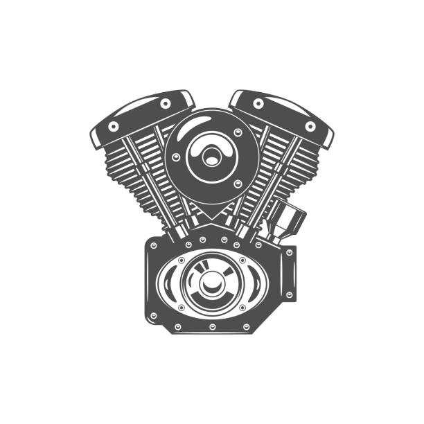 Best Motorcycle Engine Illustrations, Royalty-Free Vector ...