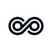 Monochrome infinity symbol