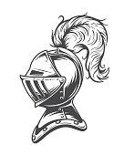 Monochrome knight helmet armor