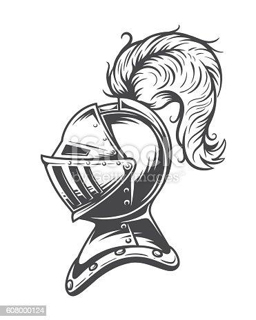 Monochrome Knight Helmet Armor Stock Vector Art & More ...