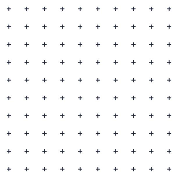 monochrome mini plus cross symbol seamless pattern, background, texture, wallpaper, banner, label, vector design - group of people stock illustrations