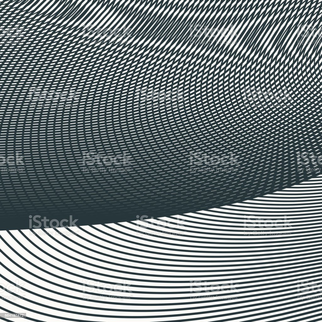 monochrome moire wave pattern. separate layer. royalty-free monochrome moire wave pattern separate layer stock vector art & more images of abstract
