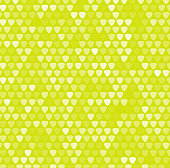 Monochrome mosaic background with green rounded corner triangles