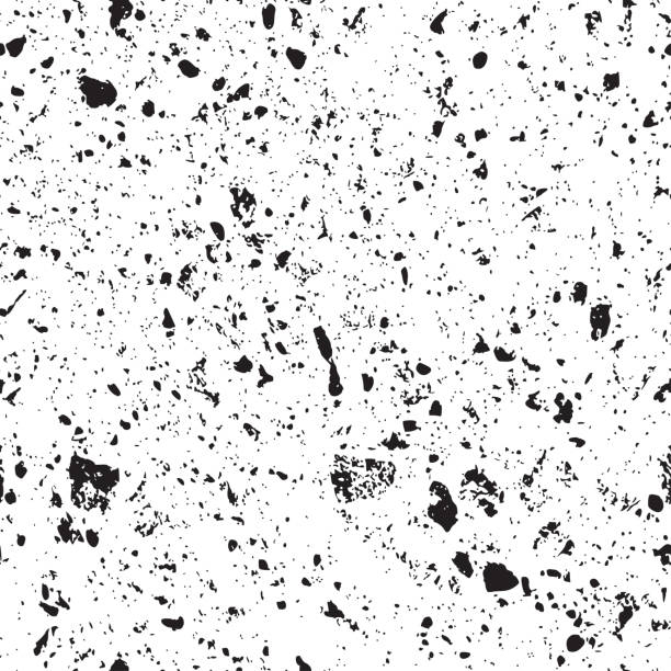 Monochrom laut strukturiertem Hintergrund – Vektorgrafik