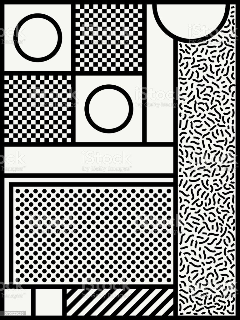 monochrome poster design. vector art illustration