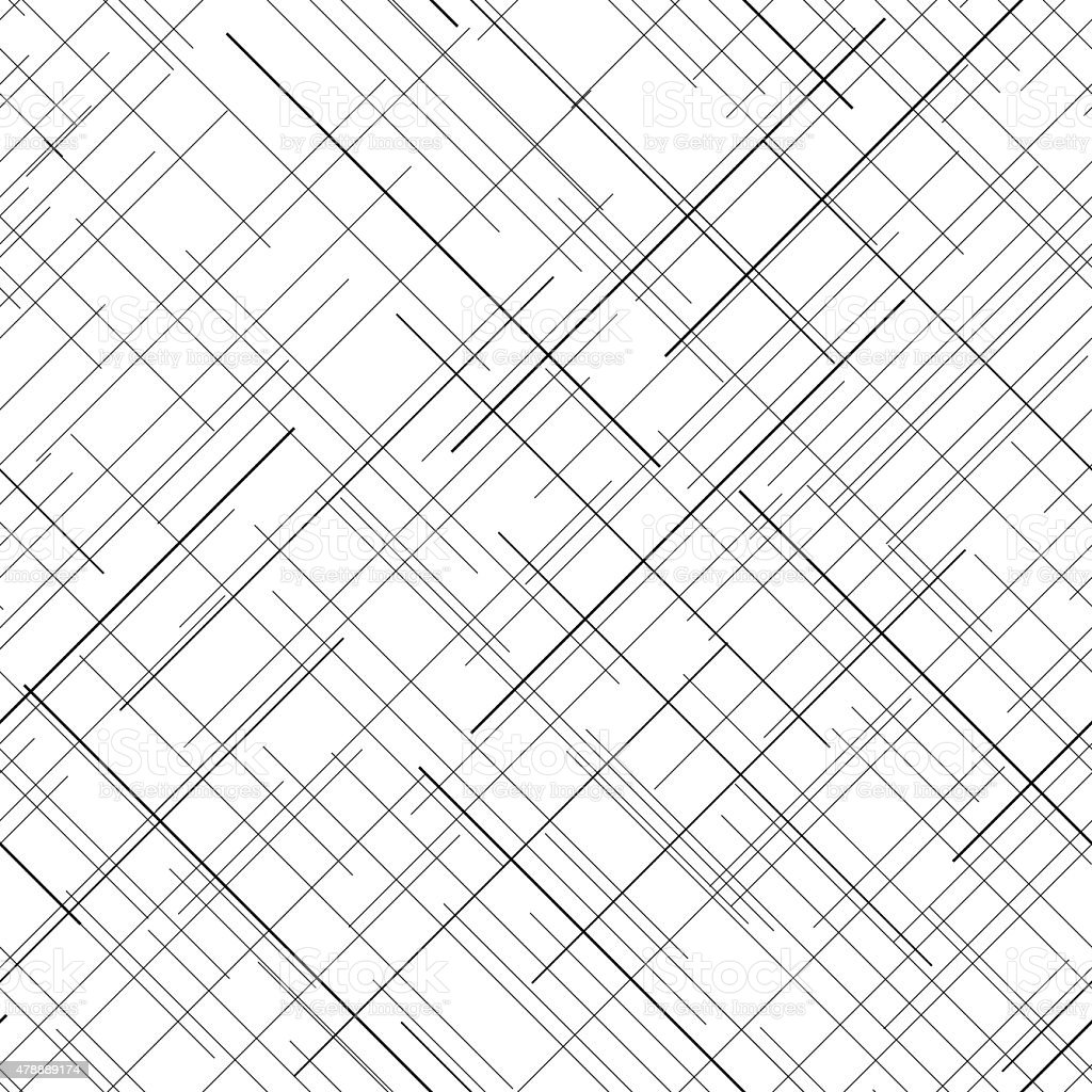 Line Texture Background : Monochrome seamless pattern diagonal random lines abstract