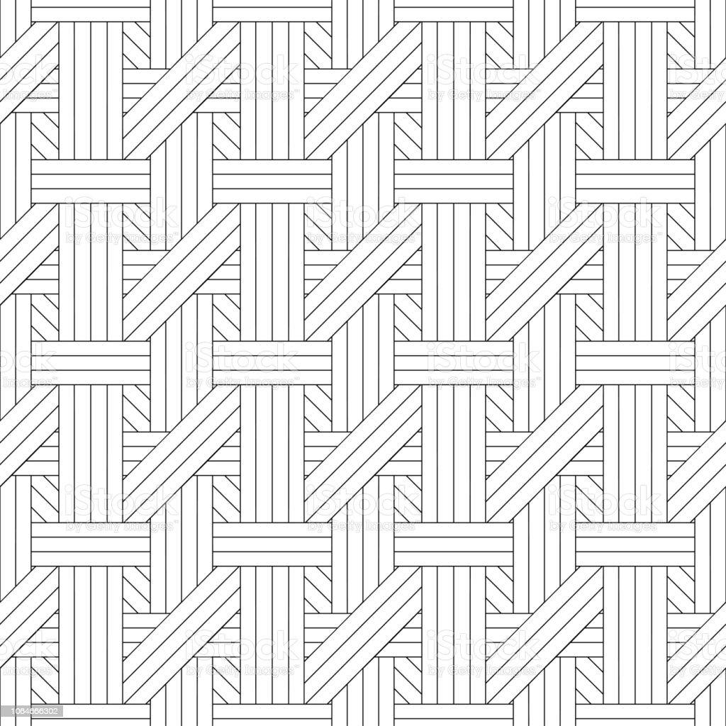 モノクロのシームレスなベクトル パターン。 ベクターアートイラスト