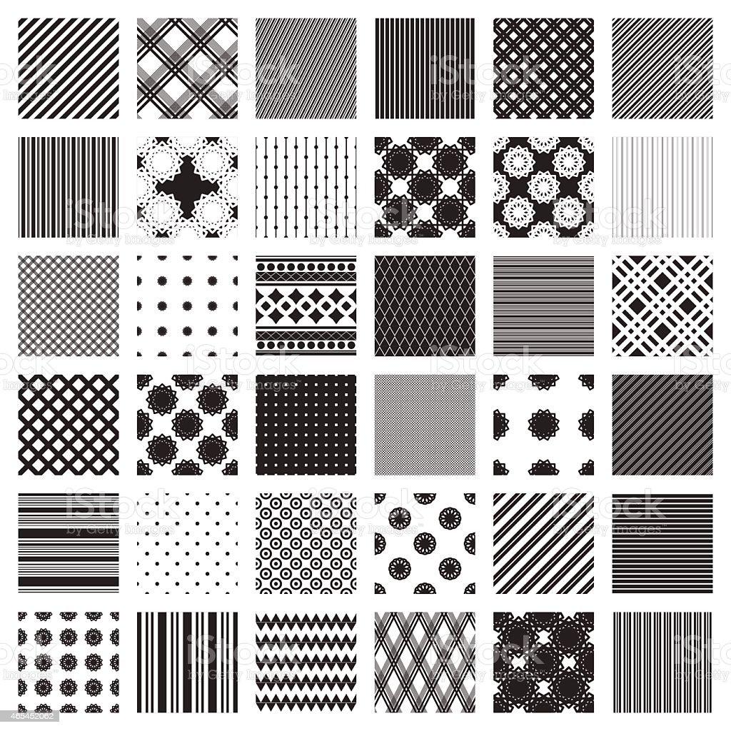 Disegni Geometrici Bianco E Nero set di monocromatiche motivi geometrici solo in bianco e