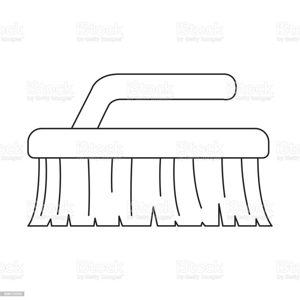 monochrome silhouette of cleaning brush stock vector art more rh istockphoto com Oil Can Clip Art Wrench Clip Art