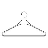 monochrome silhouette of clothes hanger icon