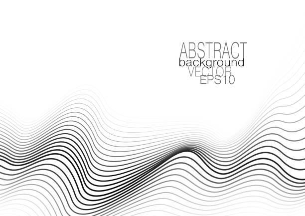 Monochrome squiggle curves. Modern layout with line art pattern. White background. Vector abstract template for brochure, leaflet, flyer, book, poster, presentation. EPS10 illustration Monochrome squiggle curves. Modern layout with line art pattern. White background. Vector abstract template for brochure, leaflet, flyer, book, poster, presentation. EPS10 illustration squiggle stock illustrations