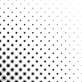 Monochrome star pattern - black and white abstract vector background graphic design from geometric polygonal shapes