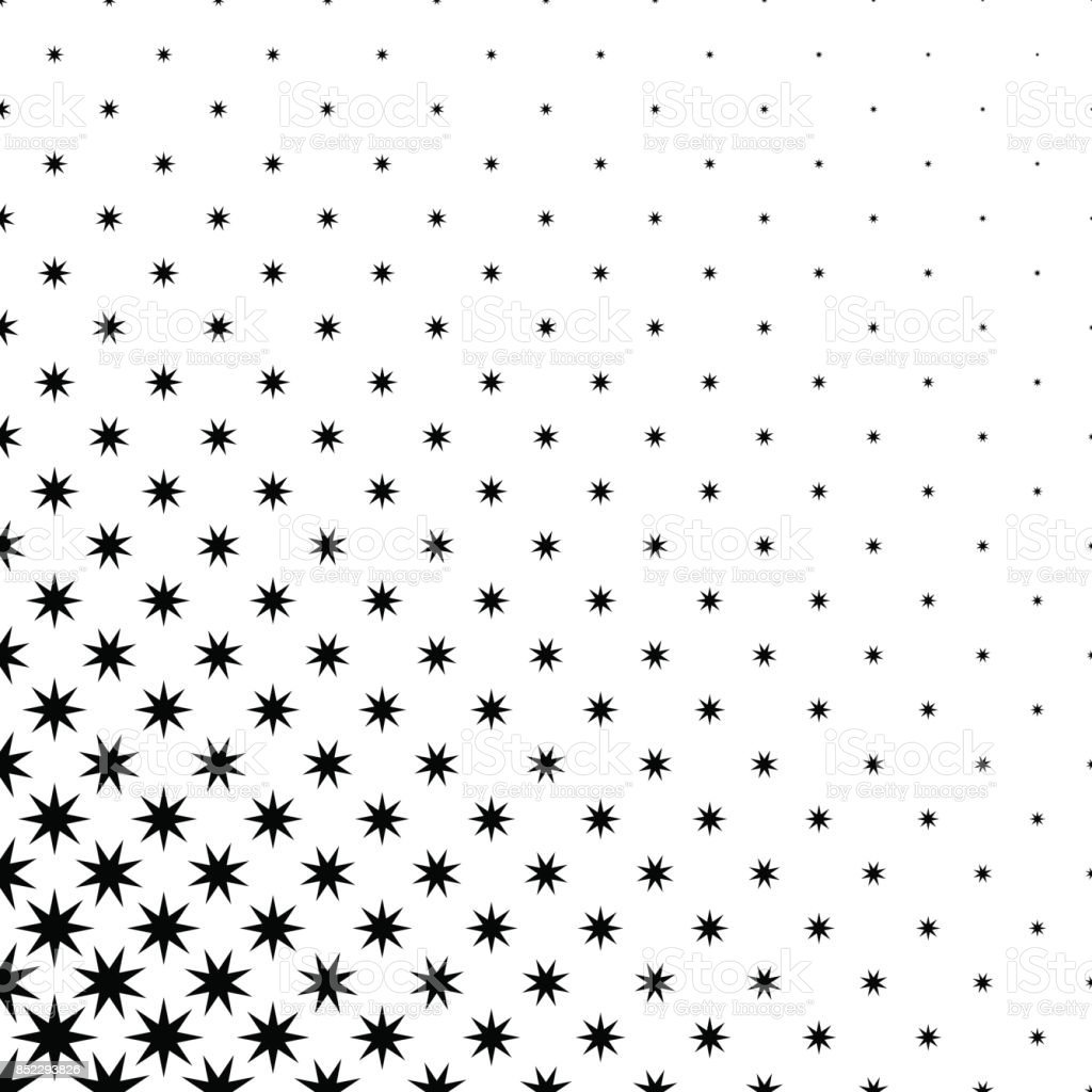 Monochrome star pattern - abstract vector background graphic design from geometric polygonal shapes vector art illustration