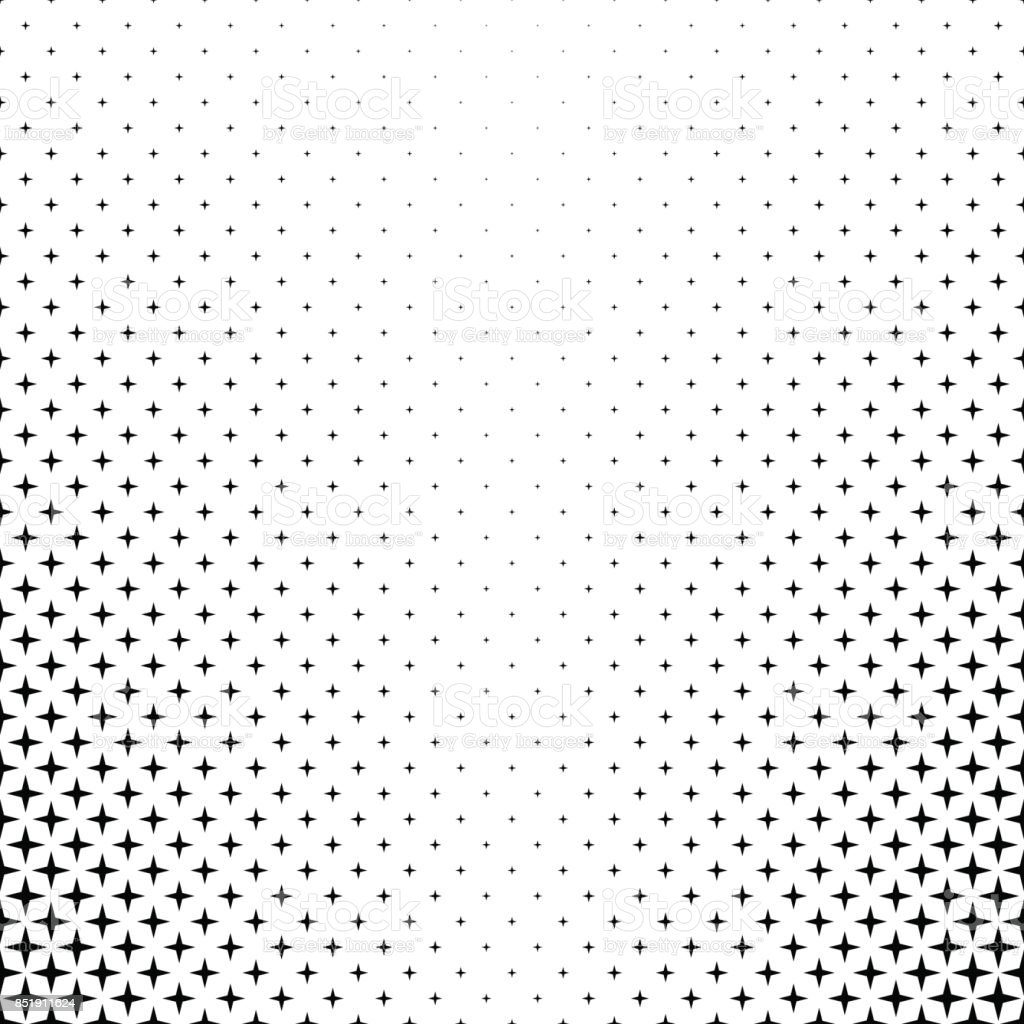 Monochrome star pattern - vector background graphic from geometric shapes vector art illustration