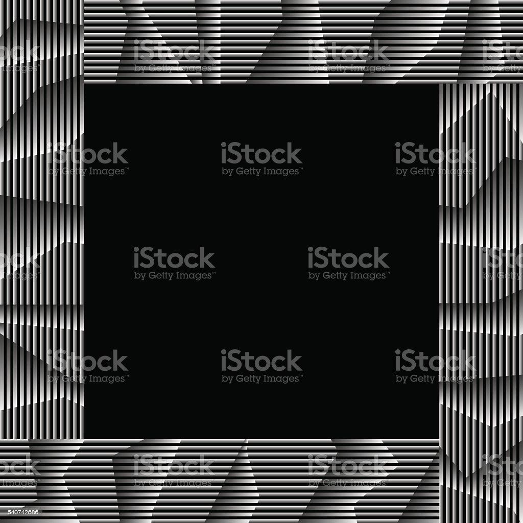 Monochrom Gestreiften Rahmen Stock Vektor Art und mehr Bilder von ...