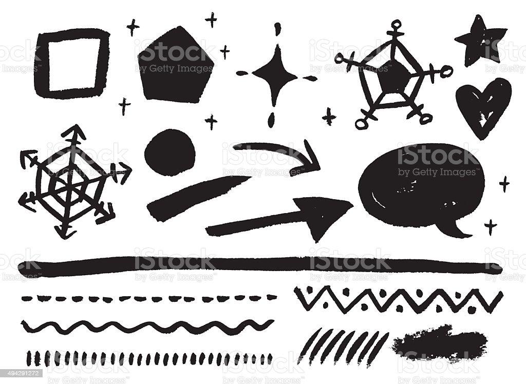 Monochrome coup de - Illustration vectorielle