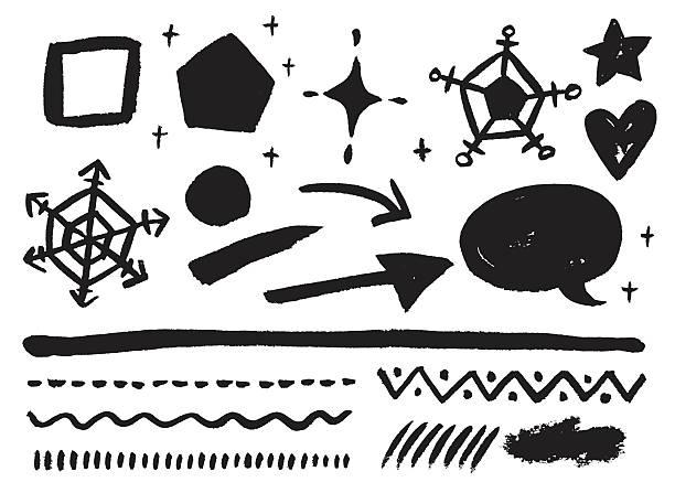 Monochrome stroke vector art illustration