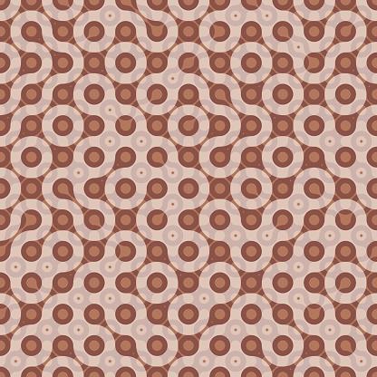 Monochrome Truchet repeat design. Geometric seamless pattern.