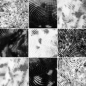 Monochrome Vector HalfTone Collection
