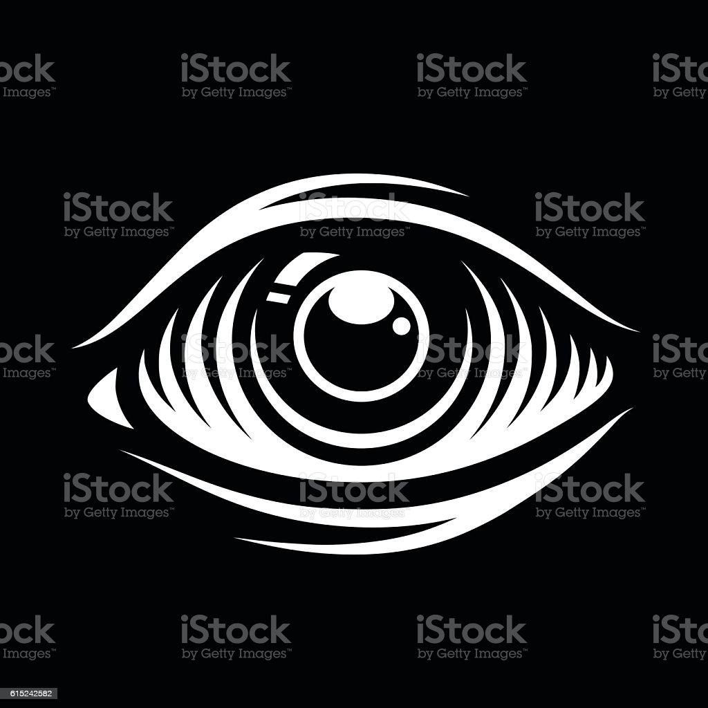 Monochrome vector illustration of eye