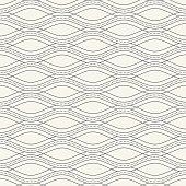 Monochrome wave seamless pattern.
