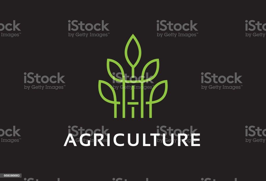 Monogram Agriculture symbole Template Design vecteur, emblème, Concept Design, créatif symbole, icône - Illustration vectorielle