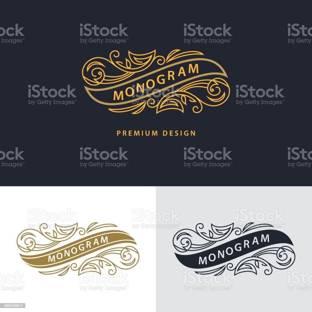 Elementos De Diseño De Monograma Elegante Plantilla Diseño De ...