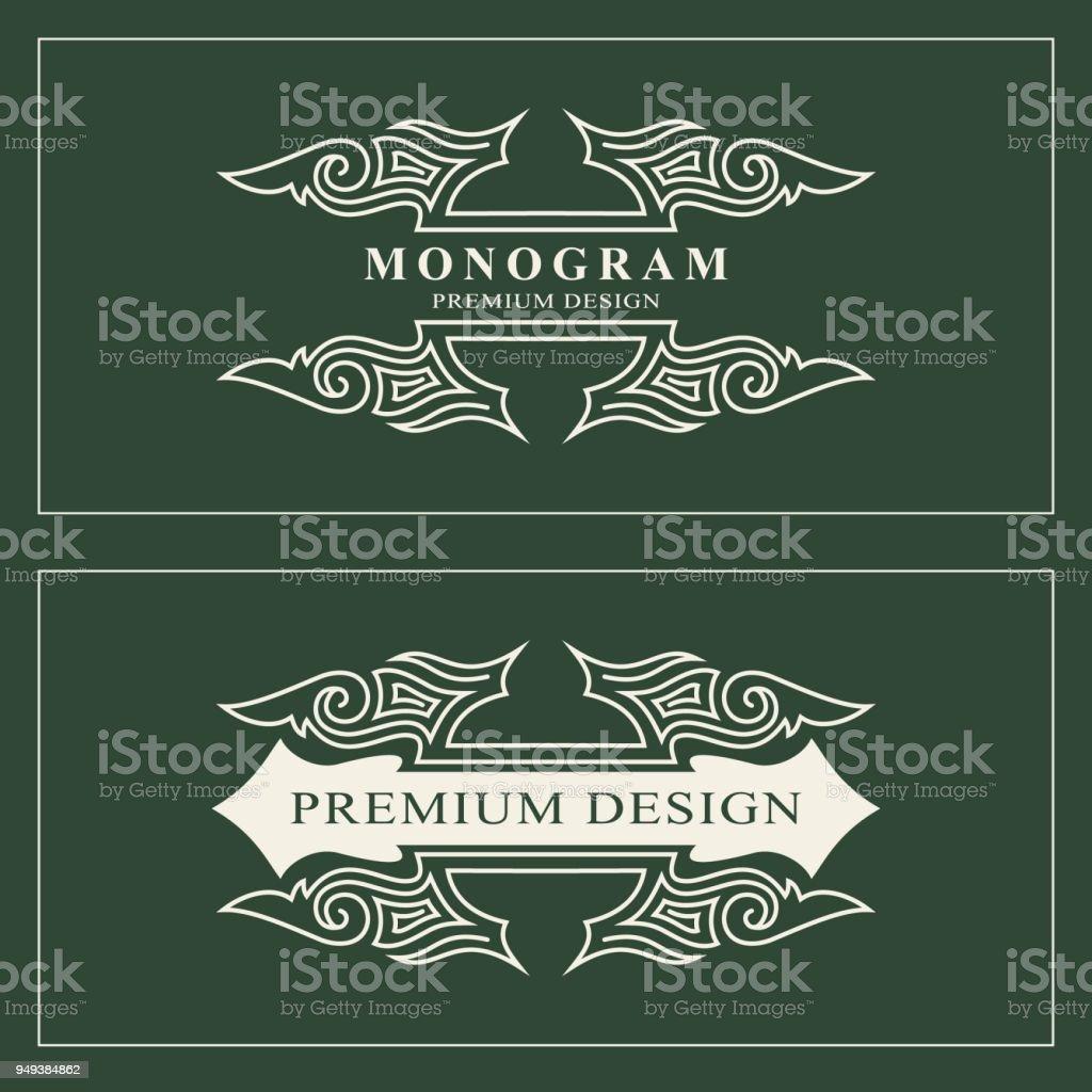 Monogrammdesignelemente Anmutige Vorlage Kalligraphische