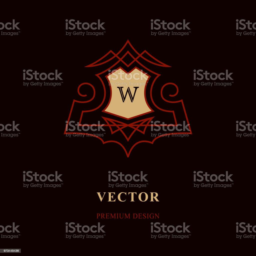 Lments De Conception Monogram Modle Gracieux Dart Calligraphique Ligne Lgante