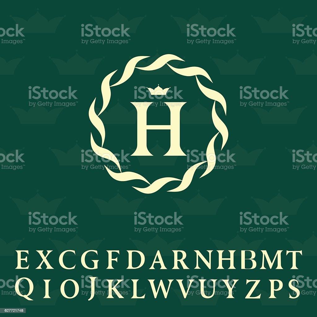 Ilustración De Diseño Del Monograma Elementos Elegantes Plantilla