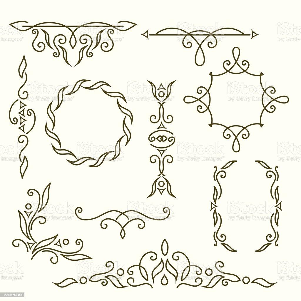 Ilustración de Diseño Del Monograma Elementos Elegantes Plantilla ...