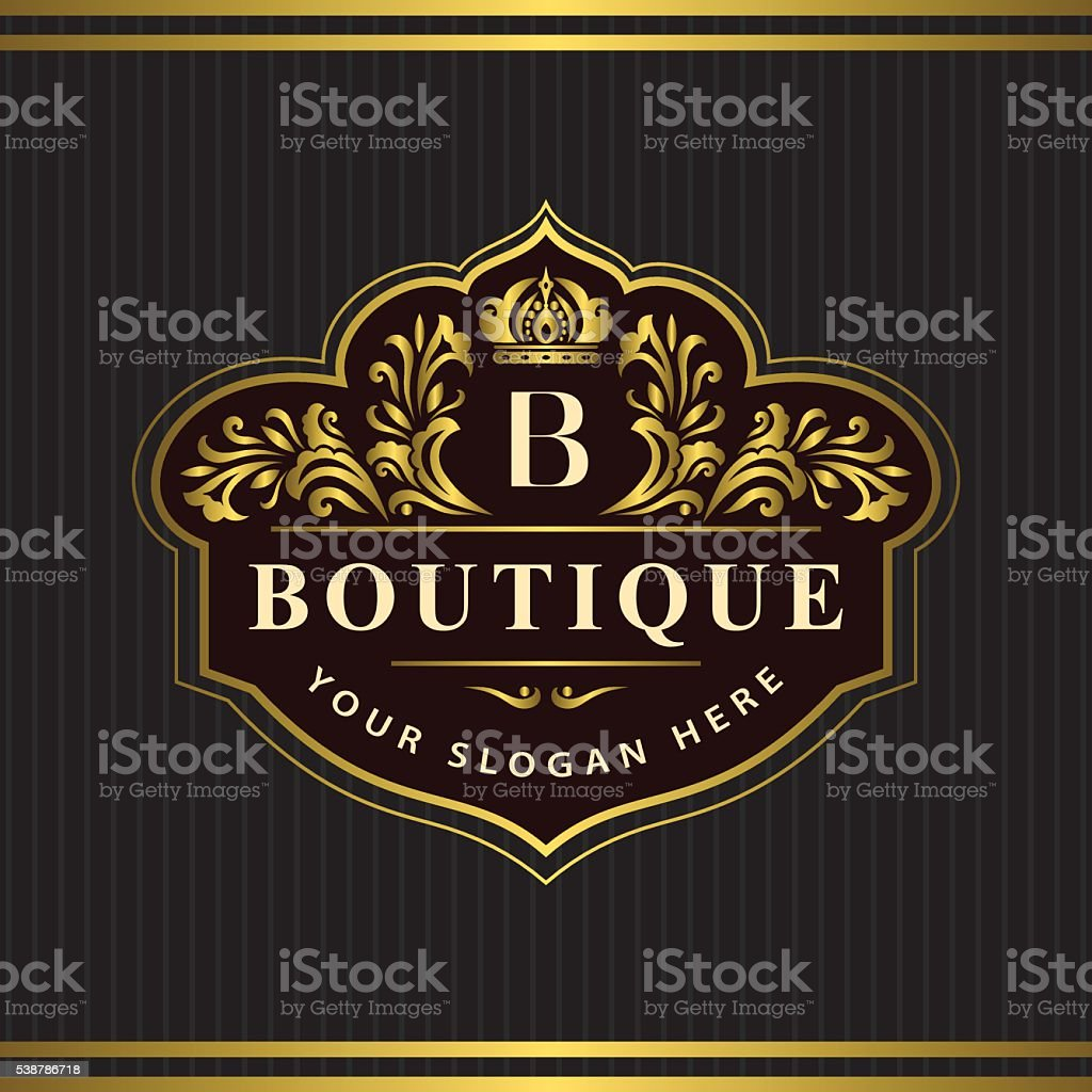 Monogram Design Elements Graceful Template Letter Emblem B Vector ...