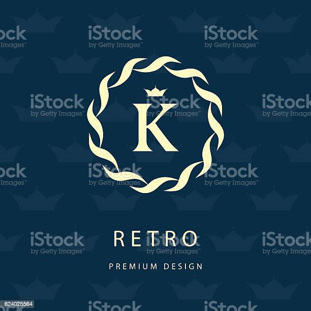 Monogram design graceful template elegant business emblem letter k vector id624025564?b=1&k=6&m=624025564&s=612x612&h= 8zdae3adoldqw4g4lmqb63oje2pmwrl46k7syy9utq=
